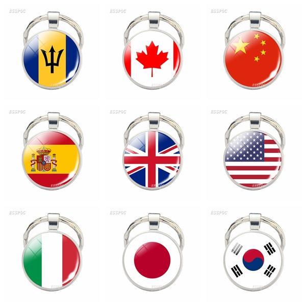 spainflag, Canada, flagkeychain, flagjewelry