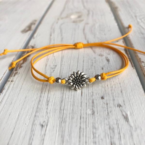 Jewelry, sunflowerbracelet, unisex, Bracelet