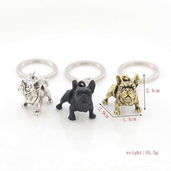 cute, Key Charms, bulldog, keychainskeyring