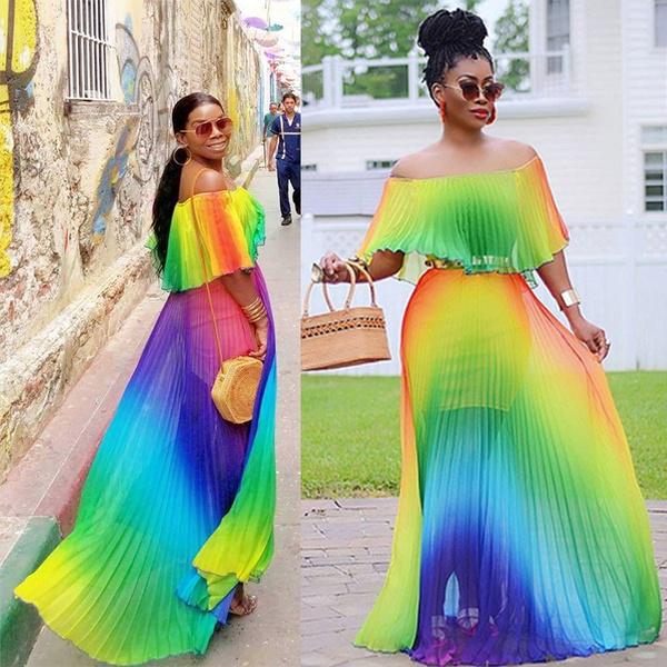 Plus Size, pleated dress, Fashion, long dress