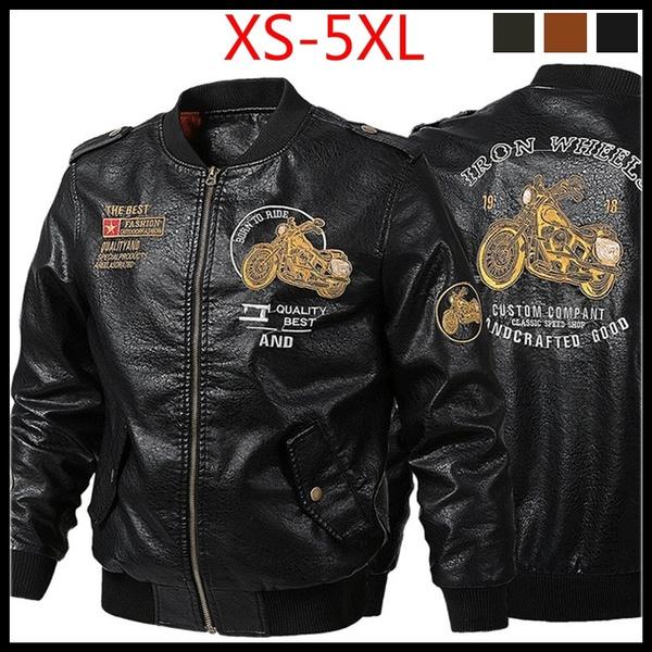motorcyclejacket, Plus Size, Men's Fashion, leather