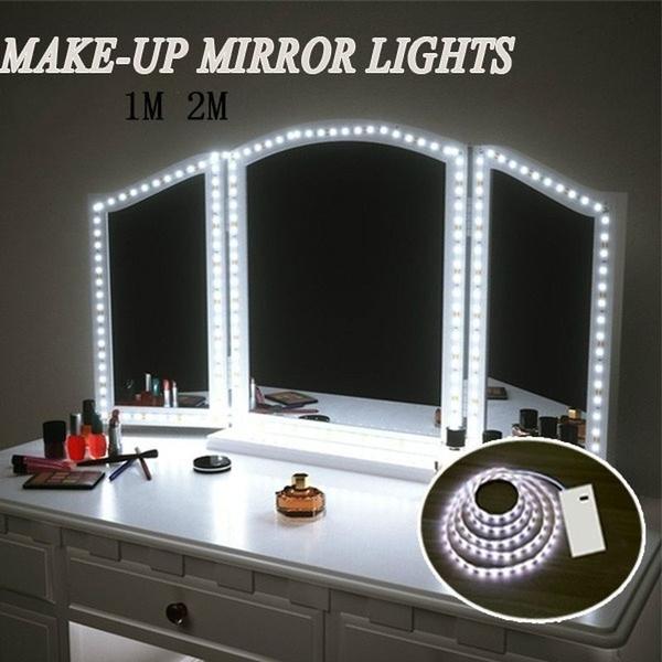 2m 1m 0 5m Led Vanity Mirror Lights Kit, Battery Makeup Mirror