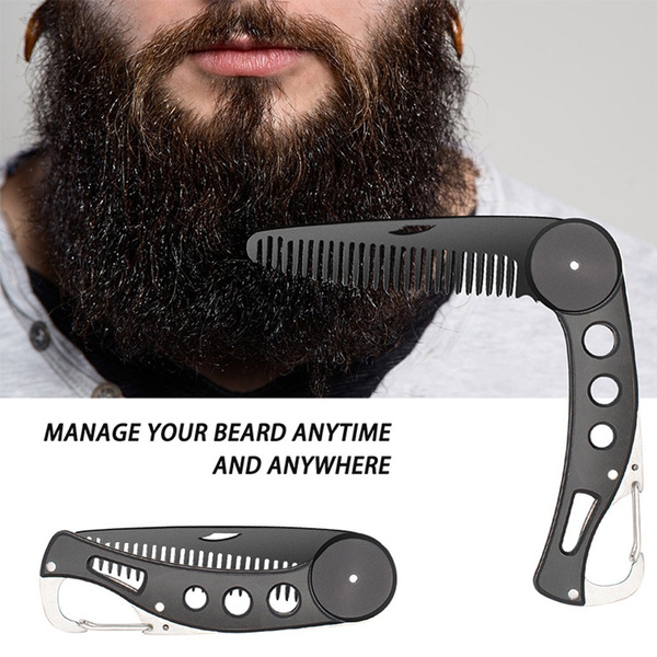 foldingbeardcomb, straighteningbrush, bearded, stainlesssteelcomb
