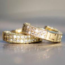 huggieearring, Sterling, DIAMOND, gold