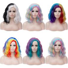 wig, rainbow, multicolorcosplaywig, Shorts