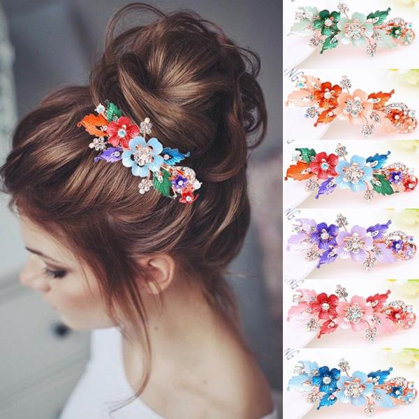 Flowers, Barrettes, Jewellery, headwear