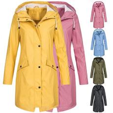 Plus Size, hooded, Outerwear, Waterproof