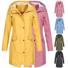 Plus Size, hooded, Outerwear, Waterproof