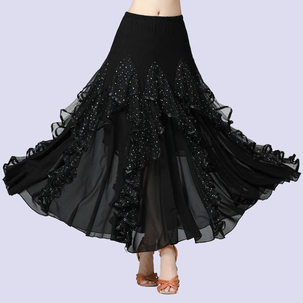 dancewear, Modern, Ballroom, waltzdanceskirt