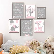 pink, Children, canvaspaintingunframed, art