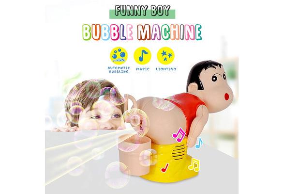 Funny Automatic Fart Bubble Blower Maker Toy Boy Stick Machine Gift UK NEW