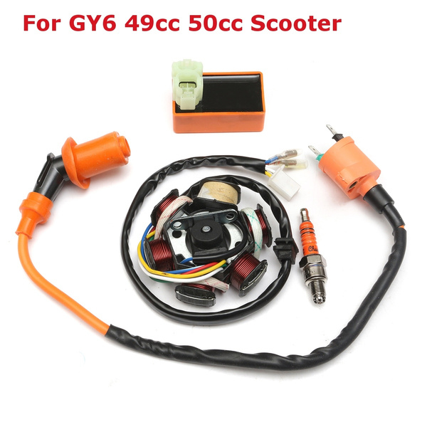 Box, spare parts, scooterpart, magnetostator