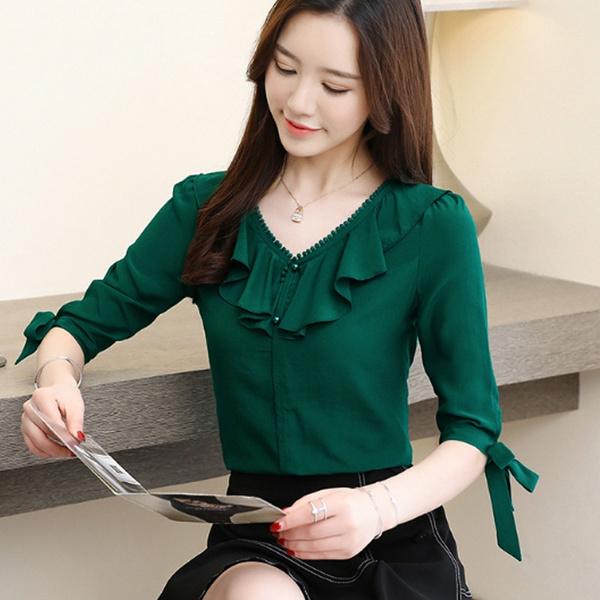 Summer, Korea fashion, Fashion, chiffon