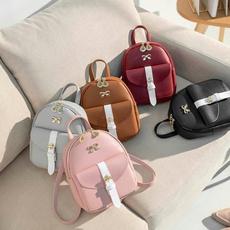 women bags, Fashion, PU Leather, leisurebackpack