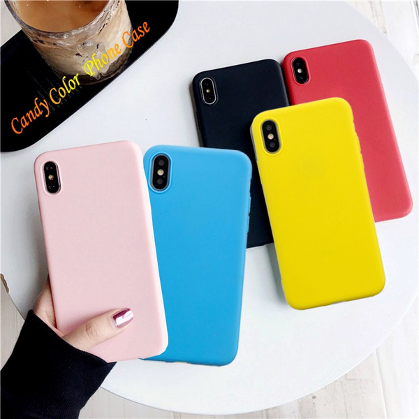 Huawei Y5 2019 of Simple Candy Color Soft Silicone TPU Skin Phone Case Cover for Huawei Y6 2019 Y7 2019 Y9 Prime 2019 Y5 2019 P30 P30 Lite P30 Pro P ...