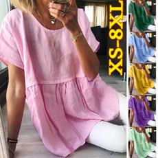 Summer, Tees & T-Shirts, Shirt, Pleated