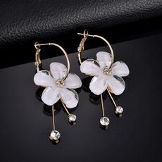 pendantearring, Flowers, Jewelry, gold
