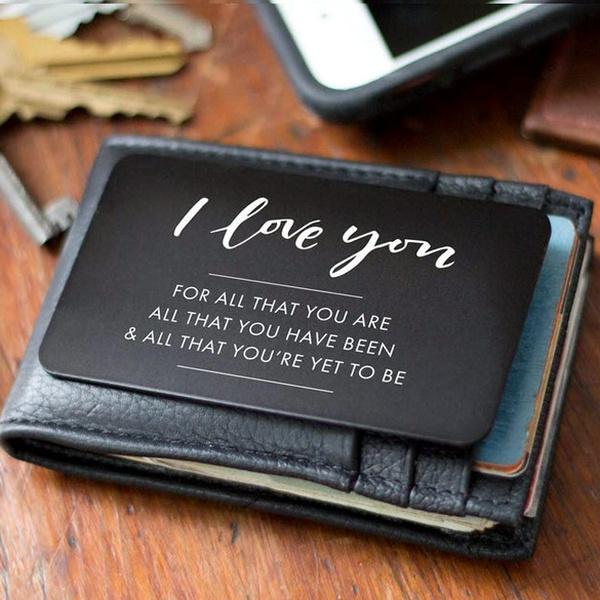 anniversarygiftsformen, walletinsert, gift for him, Love