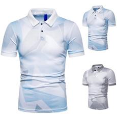 Summer, Plus Size, slim, men's polo shirt