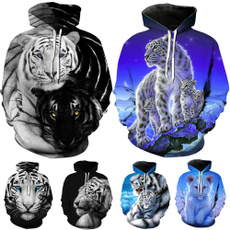 women pullover, 3D hoodies, Plus Size, Animal
