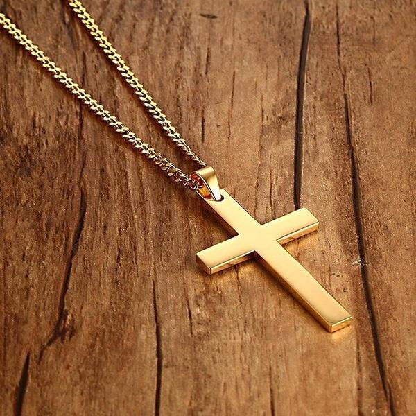 Chain Necklace, Men  Necklace, Jewelry, Cross Pendant