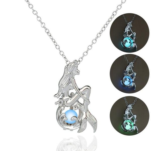Dark, mermaidnecklace, Love, Jewelry