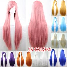 pink, wig, straightwig, Cosplay