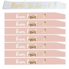 teambride, Bridesmaid, henpartysash, bridetobesash