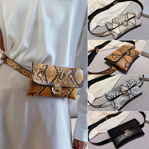 women bags, Mini, Waist, leather