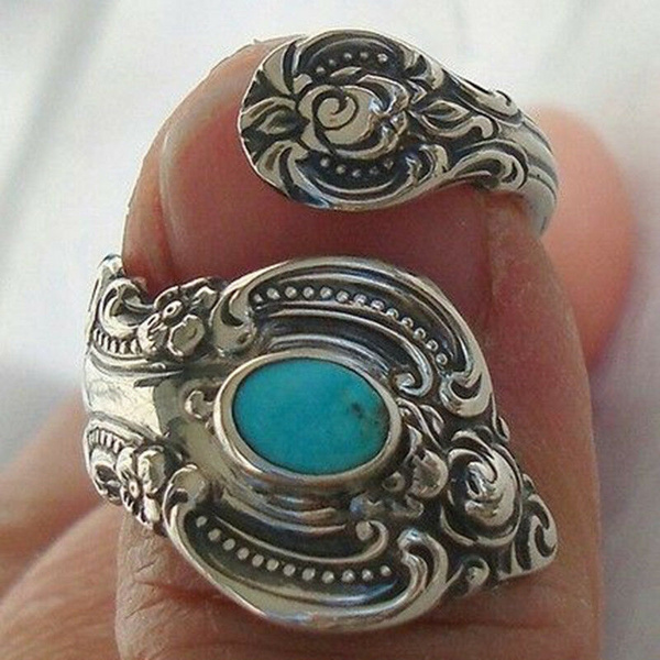 adjustablering, Turquoise, Fashion, wedding ring