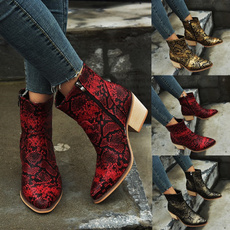 ankle boots, Plus Size, partyboot, Print