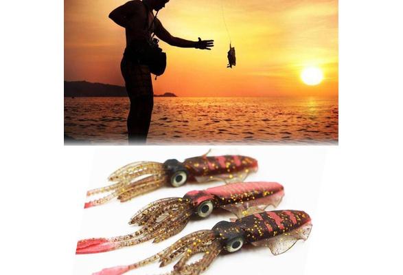 Fish Carp Bait Luminous Soft Bait Fake Lure Bionic Thin Fin Octopus Favor T9S2
