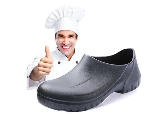 CATERING KITCHEN FOOD PREP BAKING CHEF/'S SHOES WHITE SLIP ON MICROFIBRE
