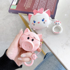 pink, cute, wirelessearphonecase, tpuairpodcase