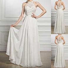 Fashion, Necks, chiffon dress, Evening Dress