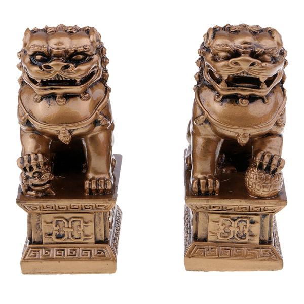 lionstatuehomedecor, chineselionstatue, Chinese, bronzem