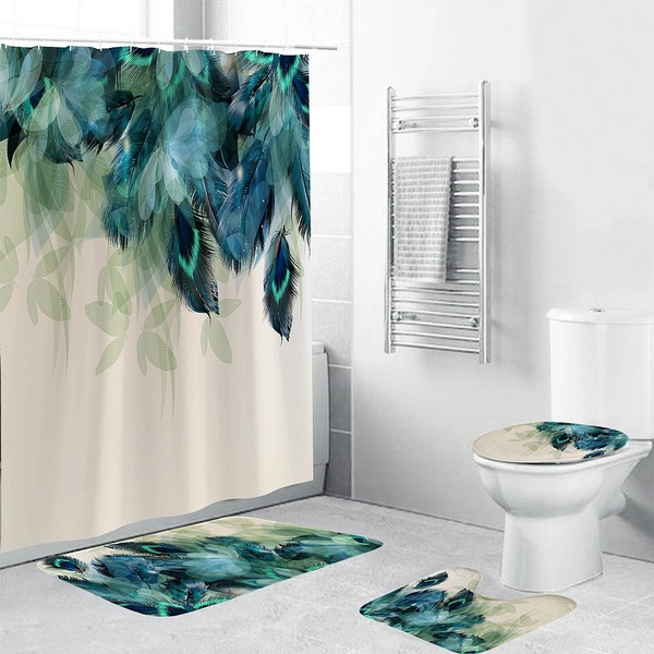 peacock, Bathroom, Home Decor, Waterproof