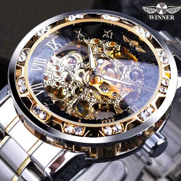 menmechanicalwatch, stainlesssteelband, Fashion, Jewelry