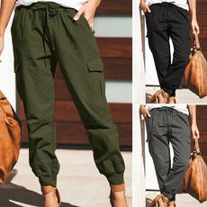 Women Pants, drawstringpant, Fashion, Cotton