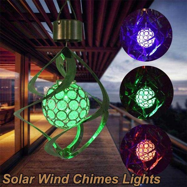 hangingsolarlight, solarwindchime, colourchanging, solargardenlight