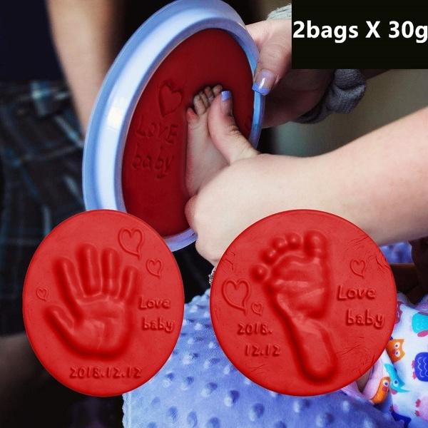 Baby, softclay, Bags, footprintclay
