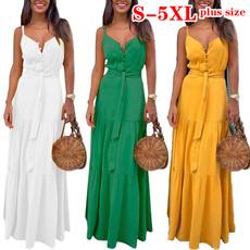 Summer, slingdresse, Plus Size, Necks