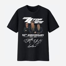 50yearsofzztop, Cotton Shirt, graphic tee, Tops