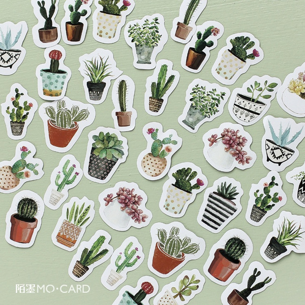 Kawaii, cute, Plants, plantsticker