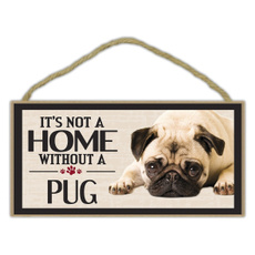 Home & Living, pug, Dogs, sign