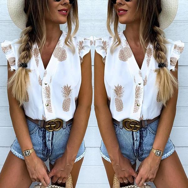 blouse, sleeveless, Fashion, ruffle