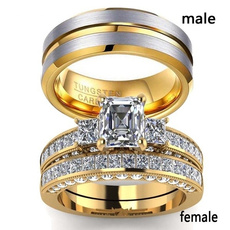 Couple Rings, yellow gold, goldenring, mensandwomensring