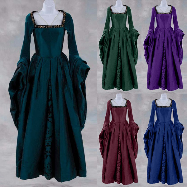 gowns, Fashion, solidcolordre, Medieval