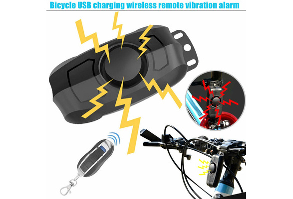 Anti-Theft Bicycle Lock Security Wireless Vibration Remote Control Alarm LKR8