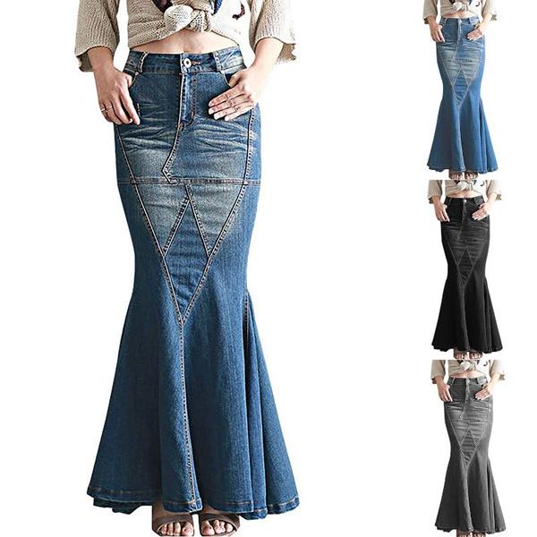 fishtailskirt, long skirt, stretchwaistskirt, Waist
